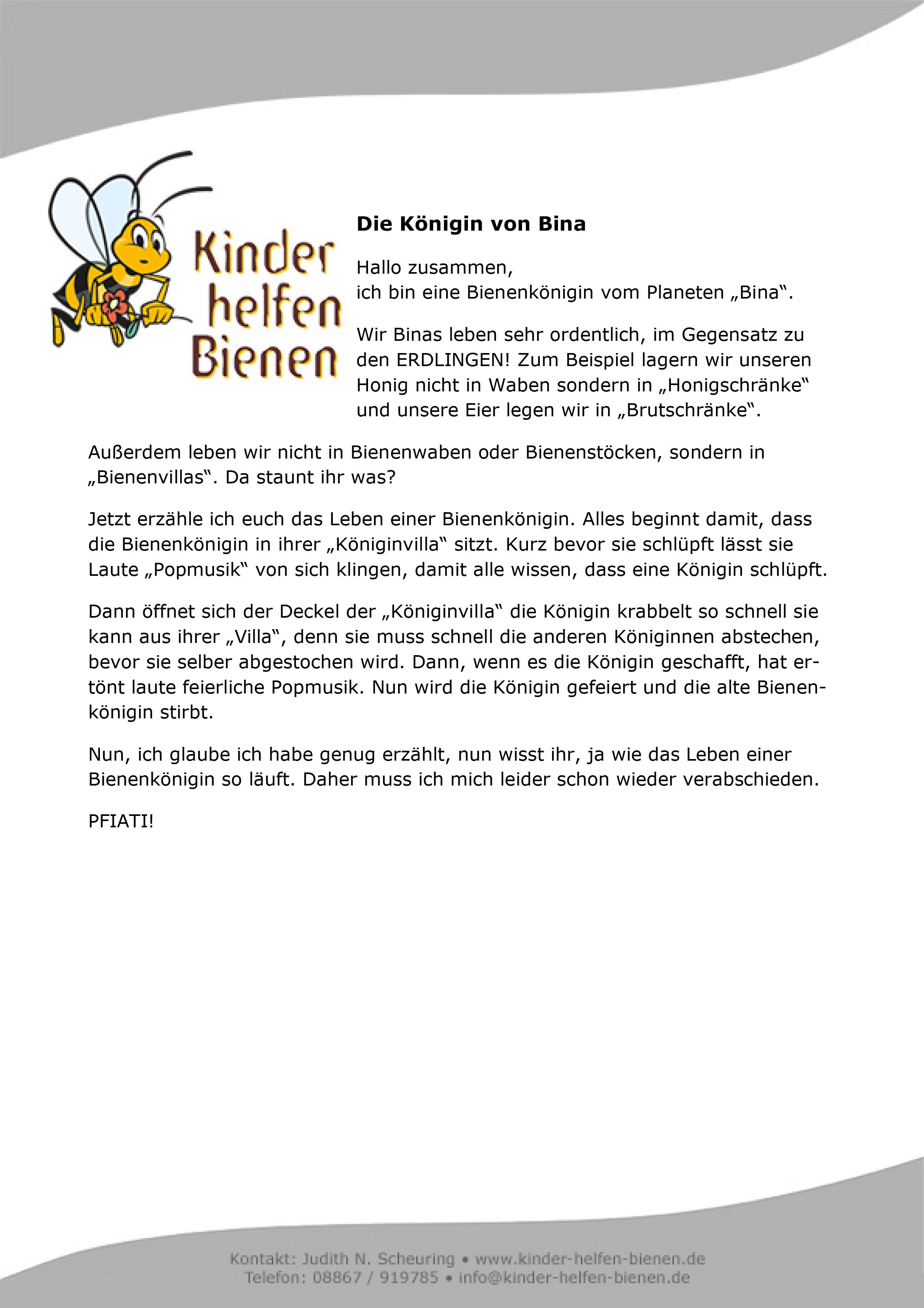 Ludwigs Bienengeschichte Kinder Helfen Bienen